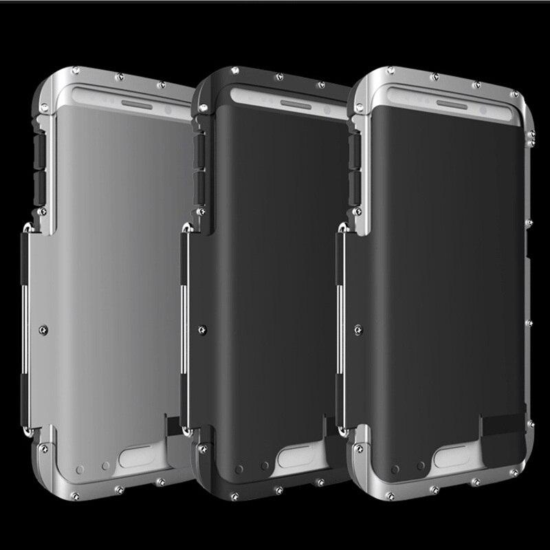 bilder für R-Nur Luxus Flip Metall Fall Für Samsung Galaxy S7/S7 rand Vollen Schwere Schutz Abdeckung Telefonkasten Für Samsung S7 rand