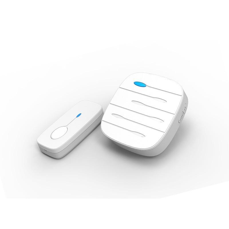 JERUAN Home Office Doorbell White Wireless Doorbell Waterproof 300M Open Area Remote EU Plug Smart Door Bell Free Shipping