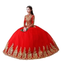 embroidery lace red luxury medieval dress sissi princess Medieval Renaissance Gown queen costume Victorian Belle ball