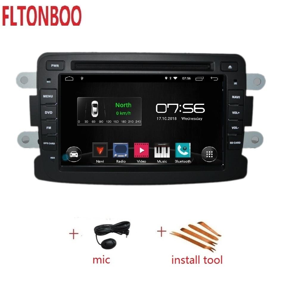 7 дюймов Android 8,1 для renault duster, dacia, Sandero, автомобильный DVD, радио, gps навигация, 3g, BT, Wifi, 1 Гб, четырехъядерный,