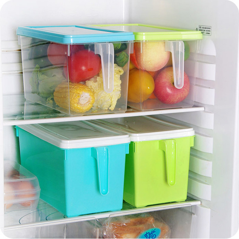 Transpa Kitchen Refrigerator Cupboard Food Rice Bean Cereals Storage Box With Handle Large Capacity Tank Container Jpg