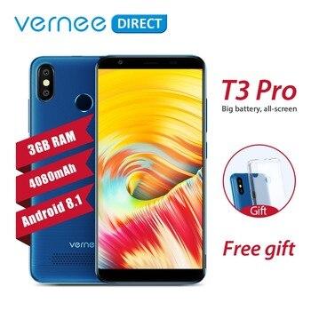 Оригинальный Vernee T3 Pro 3 ГБ Оперативная память 16 ГБ Встроенная память Android 8,1 Quad-Core мобильный телефон 5,5 дюймов 4080 мАч 5MP + 13MP смартфон с бесплатн...