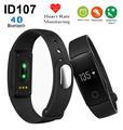 Hot ID107 Bluetooth Smart Bracelet smart band Heart Rate Monitor Wristband Fitness Tracker for iPhone 5s 6s 7 for Samsung S6 S7
