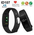 Hot ID107 banda Monitor De Freqüência Cardíaca Do Bluetooth Inteligente Pulseira inteligente Pulseira rastreador de fitness para iphone 5s 6 s 7 para samsung s6 s7