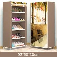 Estante de zapato común de Rusia, armario Zapatero ahorrador de espacio, organizador de botas, montaje de muebles para el hogar, no tejido, en oferta