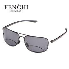 FENCHI 2017 Dioptria Bifocais Óculos de Leitura Unissex Óculos Masculinos  Óculos Polarizados óculos de Sol Óculos Para Presbiopi. 2309571b64