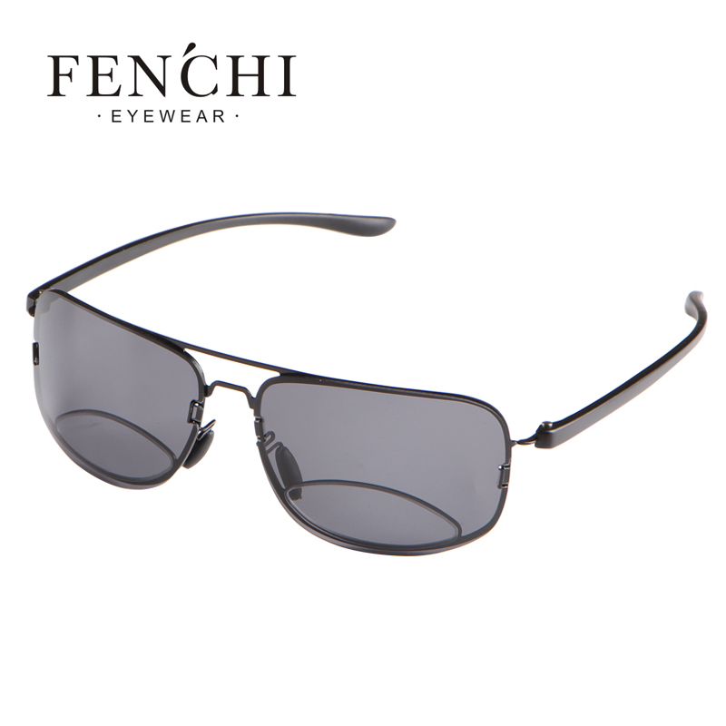FENCHI  Bifocals Reading Glasses Polarized Sunglasses Men Hyperopia Prescription Eyeglasses +1.5+2.0+2.5+3.0