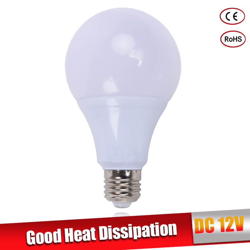 LED bulb lamps E27 DC 12V LED lights Lampada LED Smart IC Real Power Led Spotlight bombillas LED 3W 5W 7W 9W 12W 15W white