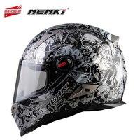 NENKI Motorcycle Helmets For Men And Women Motorbike Full Face Helmet Motocross Racing Helmet Capacete De Moto 13 Color