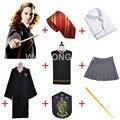 Envío Libre Robe Capa de Gryffindor Hermione Granger Cosplay Falda Uniforme Personalizado para Halloween para harry potter Varita cosplay