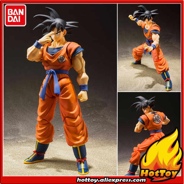 100 Original BANDAI Tamashii Nations S H Figuarts SHF Action Figure Son Goku A Saiyan Raised