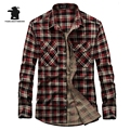 High quality Brand Men's Casual Shirt Fashion Plaid 100% Cotton Plus Size Long Sleeve Casual Shirts Men Pull Home  C16D1636