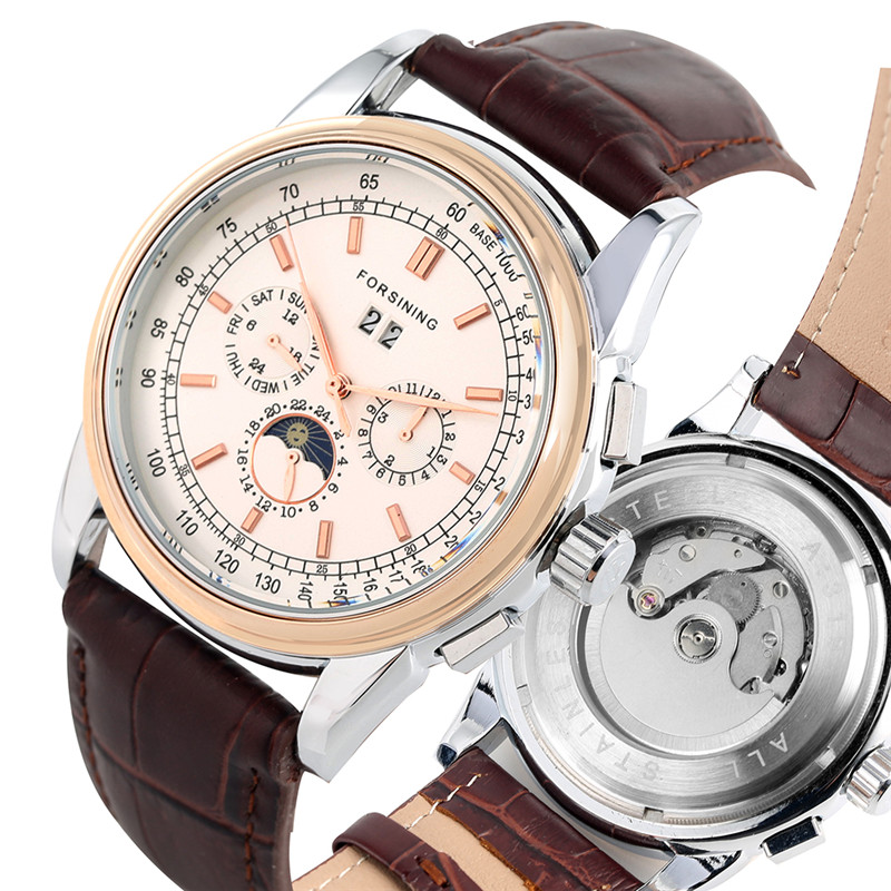 Retro Automatic Mechanical Watches Self Wind For Men Luxurious Skeleton Watches Premium Leather Band Mechanical WristwatchesRetro Automatic Mechanical Watches Self Wind For Men Luxurious Skeleton Watches Premium Leather Band Mechanical Wristwatches
