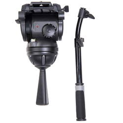 miliboo M8 Professional Broadcast Movie Video Fluid Heads Load 15 kg Heavy Duty Tripod Camera Stand with 100mm Bowl