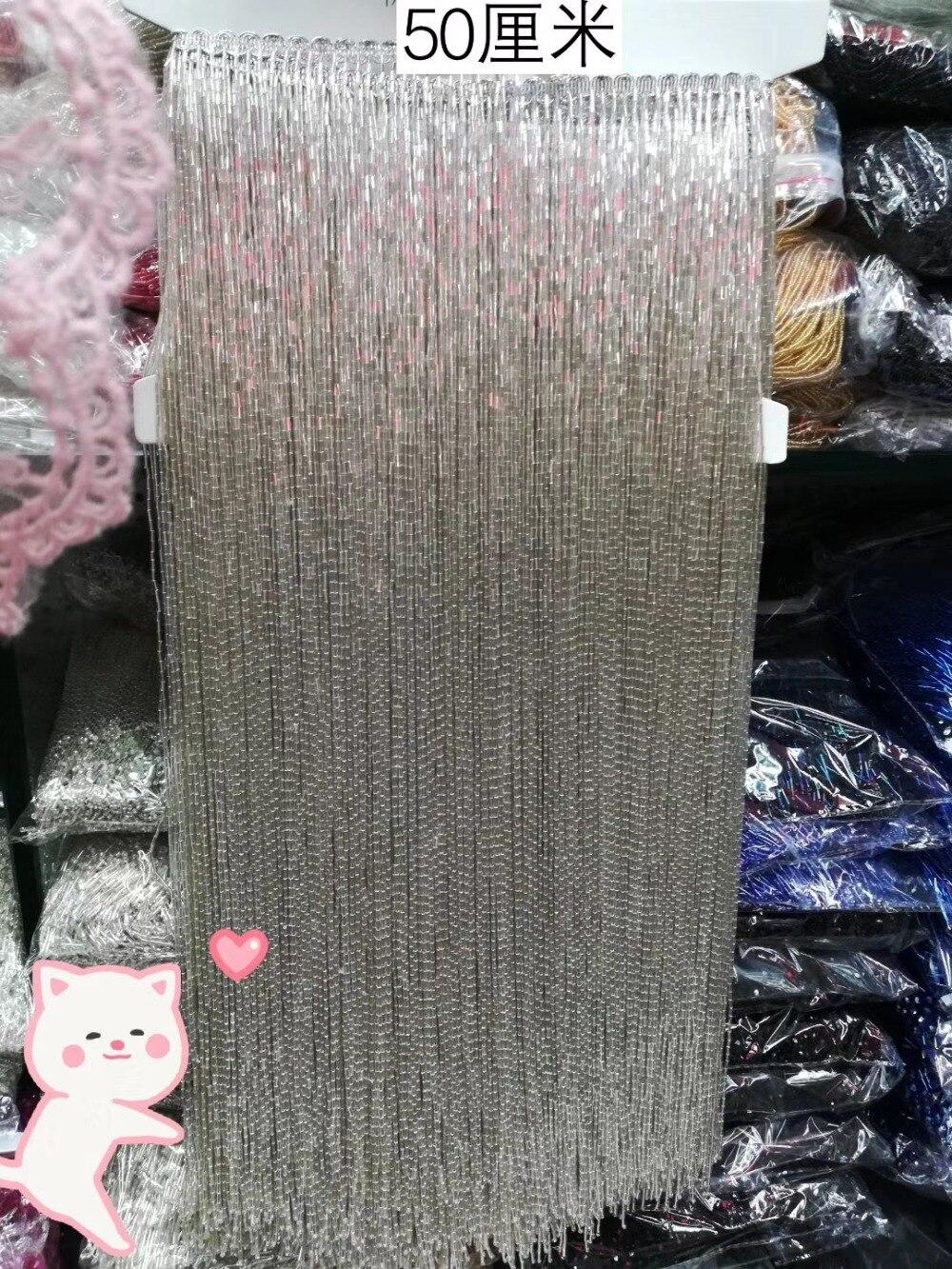 Coupe à franges perlées de 50 cm de large, 1 yard, environ 270 fils de perles/yard