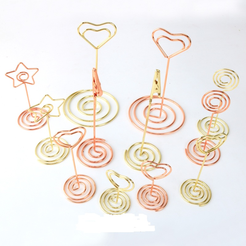 New 10pcs/lot Gold/Rose Gold Metal Message Clips Notes Letter Card Clip Message Holder Office Supplies Binding Securing clip deli new colorful candy paper clips 200pcs a barrels office stationery metal clips box pin binding supplies learn student clips