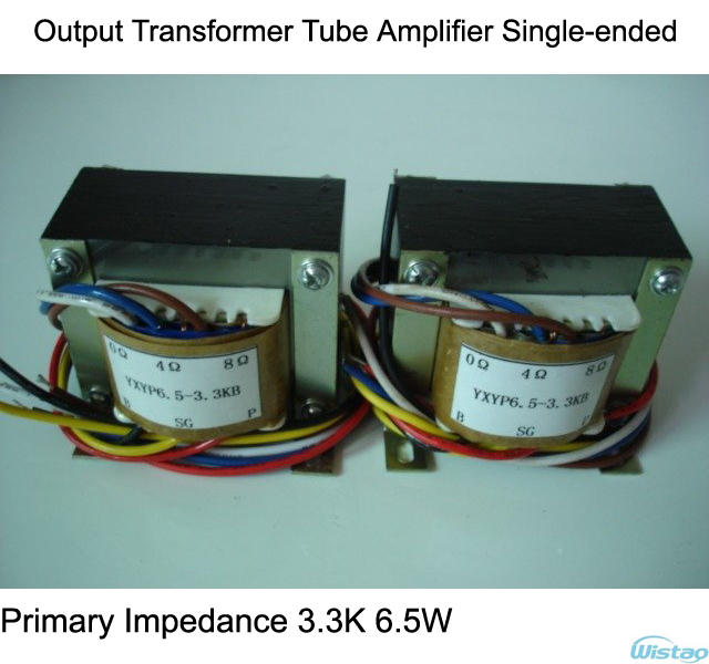 US $72 9 |Output Transformer Tube Amplifier Single ended Primary Impedance  3 3K 6 5W for Tubes EL34 FU7 KT88 KT100 6N5P 2A3-in Amplifier from Consumer