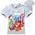Captain America Traje Muchachos de La Manga Corta T-shirt de Moda de Verano O Cuello Kids T Shirt Kids Niños Tops Tees Ropa