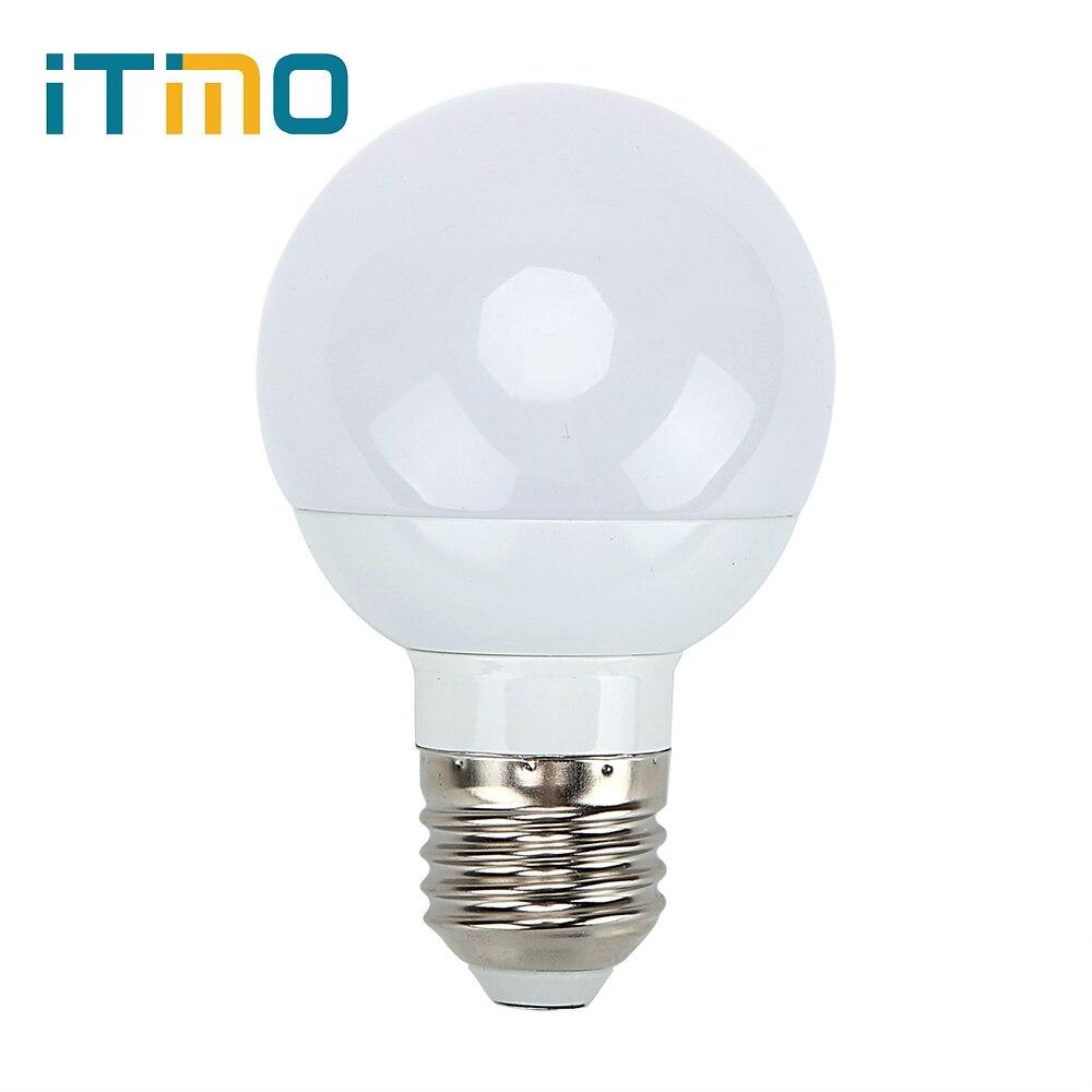 White LED Bulb Outdoor Lighting Energy Saving 3W Intelligent Lamps lamp E27 G60 AC 85-265V Emergency Light