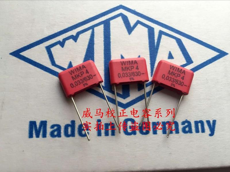 2019 Hot Sale 10pcs/20pcs German Capacitor WIMA MKP4 630V 0.033UF 630V 333 33nf P: 10mm Audio Capacitor Free Shipping