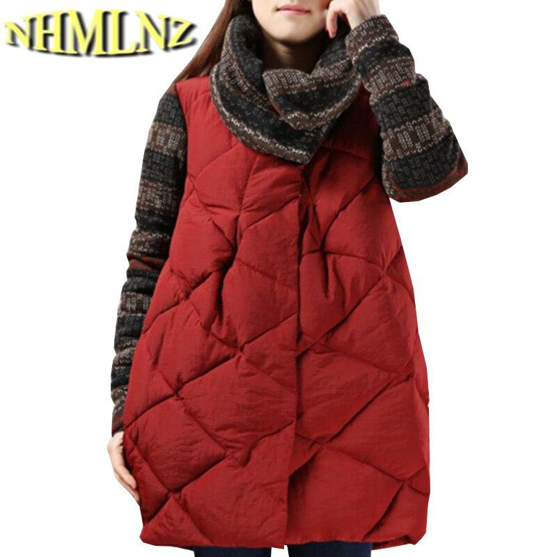 Winter New Fashion Women Coat Thick Knitted Long sleeve Splicing Cotton Coat Heap heap collar Loose Medium long Coat Women G2132