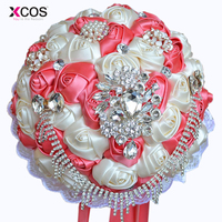 Gorgeous Crystal Wedding Bouquet Brooch Bouquet Wedding Accessories Bridesmaid Artifical Wedding Flowers Bridal Bouquets