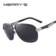 MERRY'S Men Classic Polarized Rectangle Sun glasses HD Polarized Aluminum Driving Sun glasses S'8758