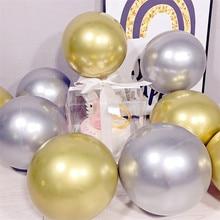 10pcs 18/22/32inch Metal BoBo Balloon Birthday Party Decoration Helium Wedding Metallic Orb Supplie
