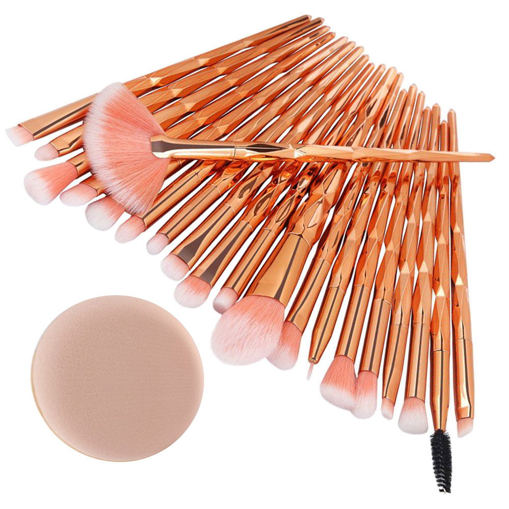 HAICAR 20Pcs Diamond Makeup Brushes Set Powder Foundation Blush Blending Eye Shadow Lip Cosmetic New Make Up Brush Pincel