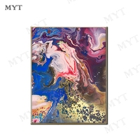 MYT Modern Purple And Blue Oil Painting Artist Hand painted High Quality Abstract New Oil Painting for Living Room Decor Art