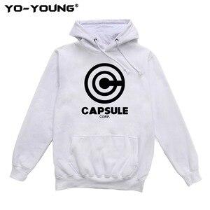 Image 5 - Yo Young Women Hoodies Sweatshirts Anime Dragon Balls Unisex Casual Capsule Corporation Print Streetwear Fleece Inside Quality