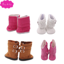 New doll shoes heels lovely winter boots 5 colors fit 18-inch girl dolls and 43-cm baby shoe accessories s56-s142