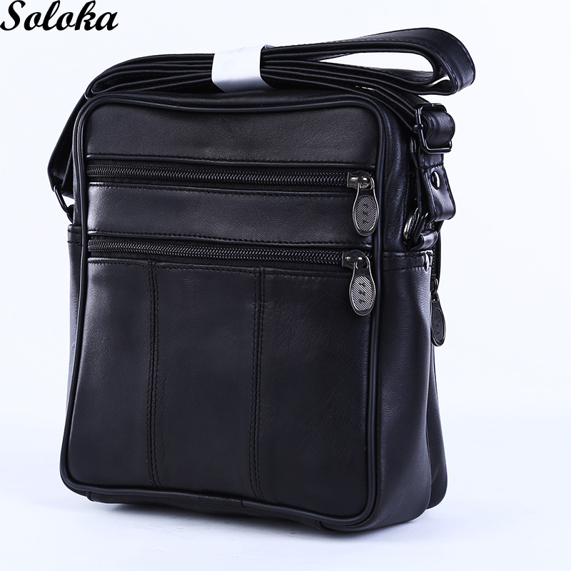 1Pc Male Genuine Leather Men Messenger Bag Luxury Shoulder Strap 2018