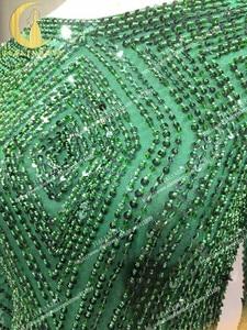 Image 3 - תמונות אמיתיות סקסי ארוך שרוולים עמוק ירוק חרוזים שיפון הגעה חדשה הברך אורך חוף מכירה לוהטת מסיבת שמלות נשף 2020