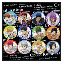 58MM Anime Badge Kuroko no Basket Kuroko Tetsuya Kagami School Basket Badge Pin Brooch Backpack Deco Icon Clothing Decorative