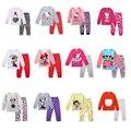 Crianças Meninos Meninas Crianças Conjuntos de Roupas de Minnie Mouse Combina Com 2 Pcs Sleepwear Desenho Animado Manga Longa Pijamas Olá Kitty Superman