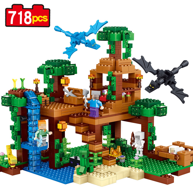 New building kits my world minecraft the jungle tree house for Modele maison lego classic