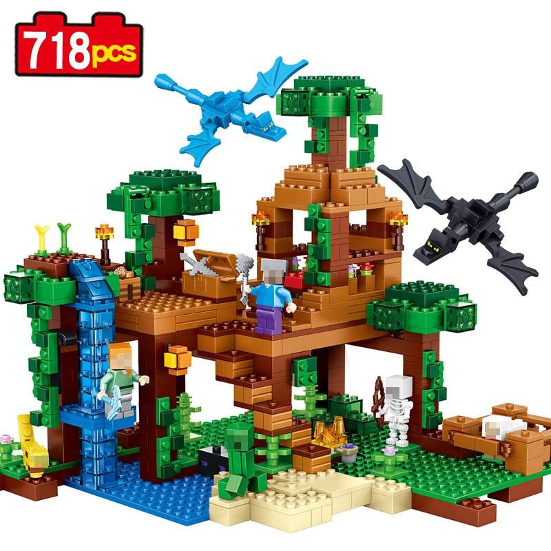 Modele Maison Lego Classic Of New Building Kits My World Minecraft The Jungle Tree House