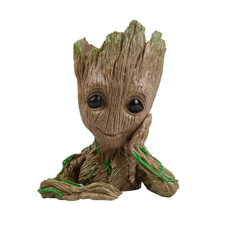 2018 16cm Tree Man Baby Action Figure tree man Doll Phoneholder Grunt Guardians of The Galaxy 2 Model pen pot and flower pot Toy grunt movie tree man baby action figure hero model guardians of the galaxy model toy desk decoration gifts for kid grootted