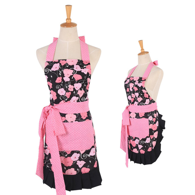 Lovely Classic Style Three Ruffles Mama Kid Apron Cooking Baking