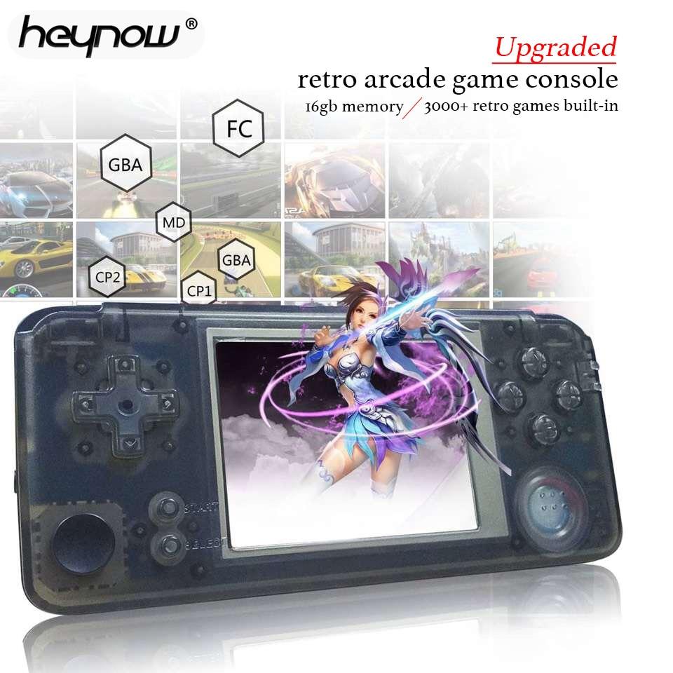 Ehrlich 2019 Verbesserte Retro Spiel Konsole 64bit 3,0 Zoll 16 Gb Tragbare Mini Handheld Spiel Player Eingebaute 3000 Spiele 360 Grad Controller Unterhaltungselektronik