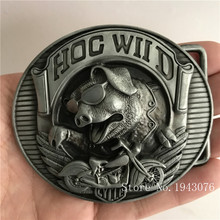 Retail Hot Sale Good Quality Oval Silver Wild boar Motorcycle Cowboy Belt Buckles With Metal Mens Womens Jeans accessories