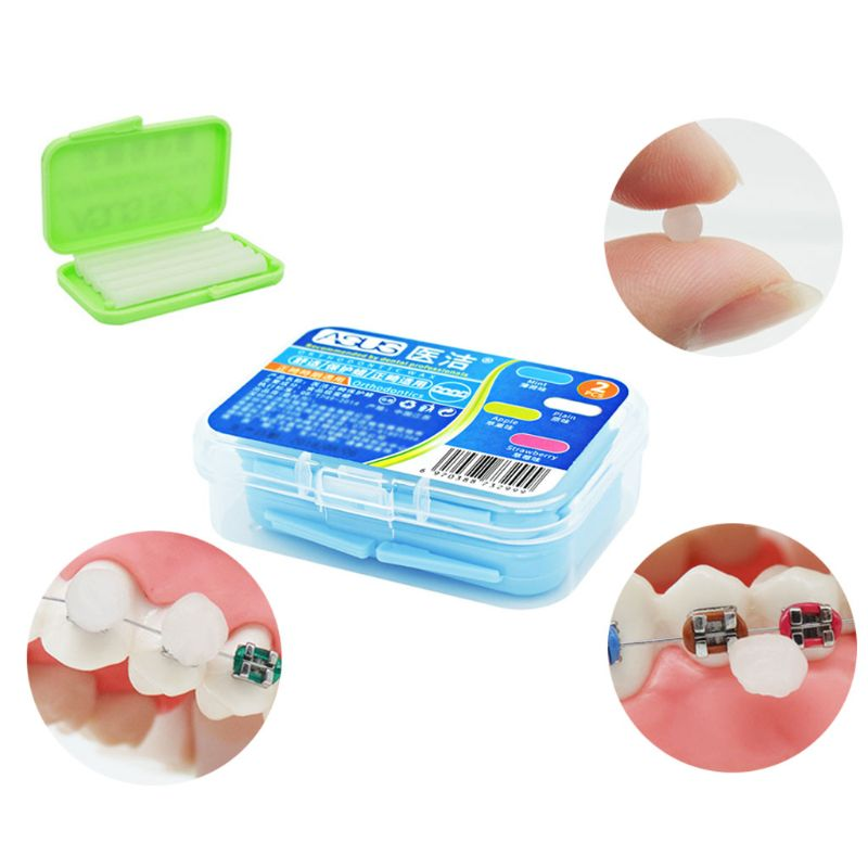 10 Strips Box Dental Orthodontics Braces Gum Protection Wax Fruit Flavor Teeth Whitening Oral Care With Box Portable Random Type in Teeth Whitening from Beauty Health