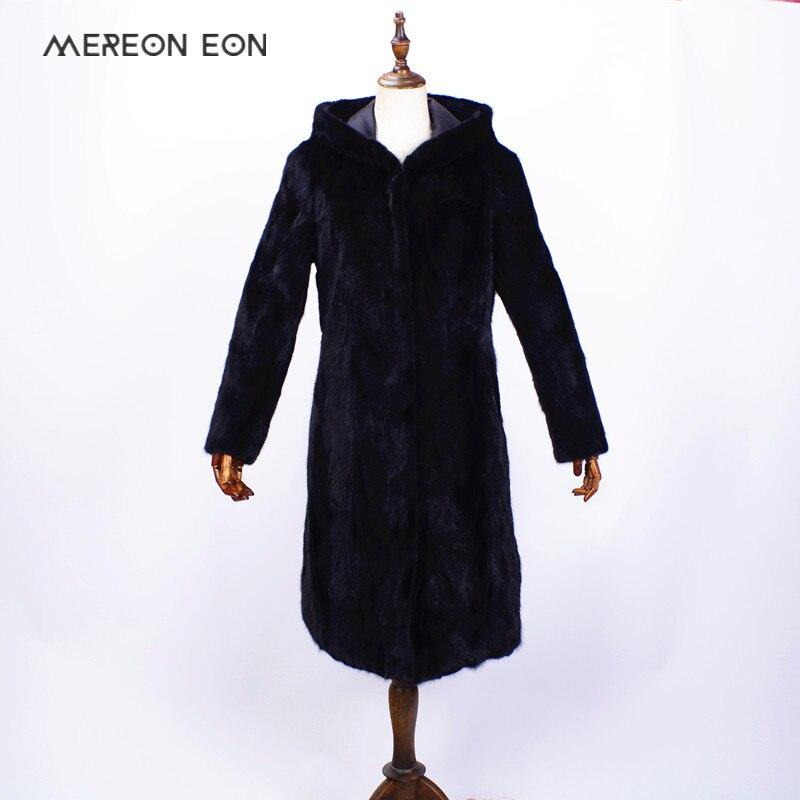 Hiver Veste de Femmes de 2018 Femmes Véritable Vison Naturel Couture Longue À Manches Longues Chaud Manteau De Fourrure Manteau De Fourrure Naturelle