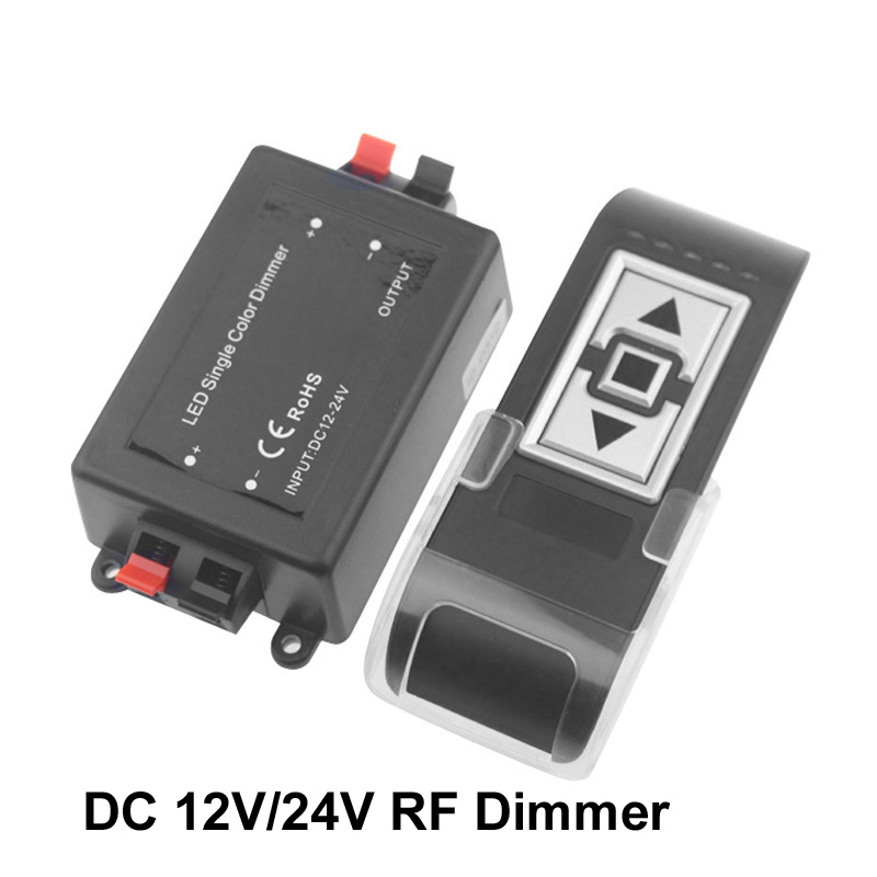 Led Dimmer 12 v 24 v Led Şerit Işık için Dimmer RF kablosuz uzaktan kumanda Led Dimmer 24 v 12 V