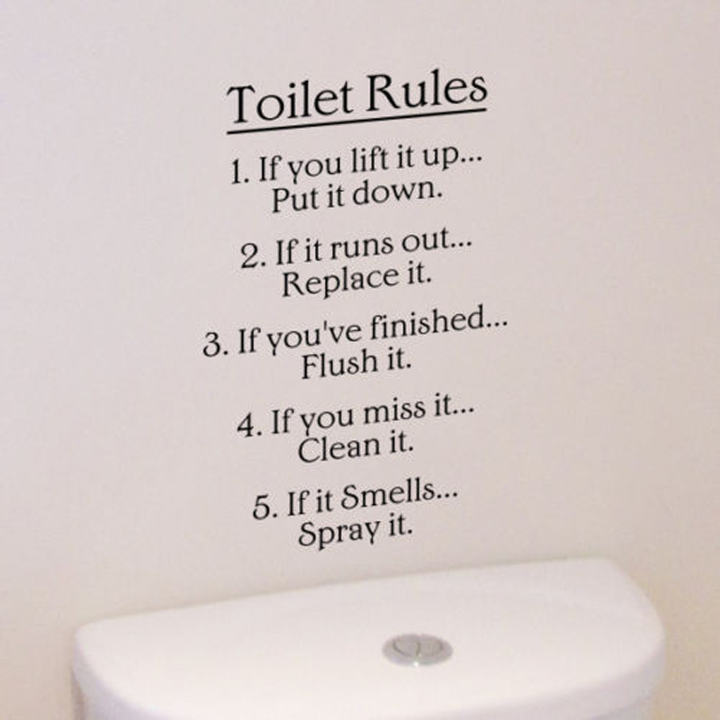 Hot Laundry Room Bathroom Rules Bathtub Wall stickers Home Decor Toilet  Decal DIY Removable Vinyl stickers. Popular Bathroom Rules Decal Buy Cheap Bathroom Rules Decal lots