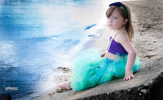 ポッシュ夢赤ちゃん人魚魚尾チュチュセット赤ちゃん女の子人魚コスプレドレス海底写真プロップ衣装ハロウィンコスチューム