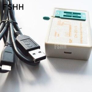 Image 2 - ÜCRETSIZ KARGO! programı CH2015 USB Yüksek hızlı programcı + 300mil FP16 to DIP8 soket eeorom/spi flaş/veri flaş/ AVR MCU programcı
