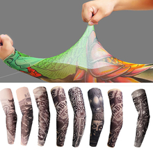 1Pieces Men Tattoo Sleeve Stretchy UV Protection Cooler Summer Gloves Arm Women Sun Cycling Sleeves