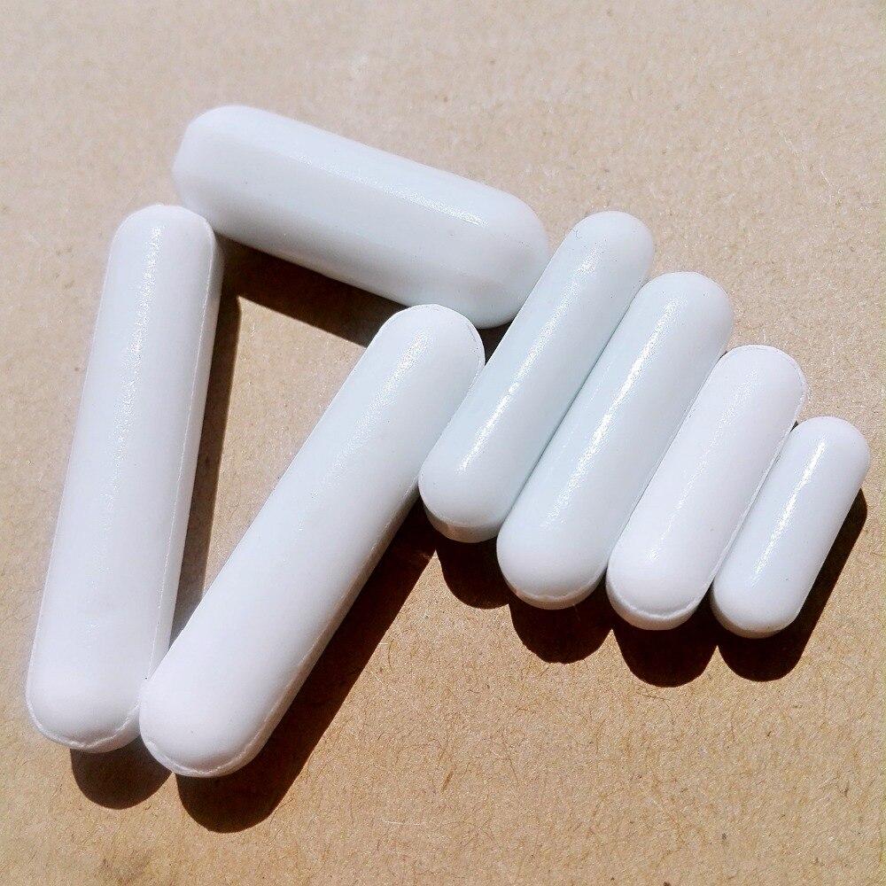 Envío gratuito 7 unids mezclador agitador magnético PTFE color blanco